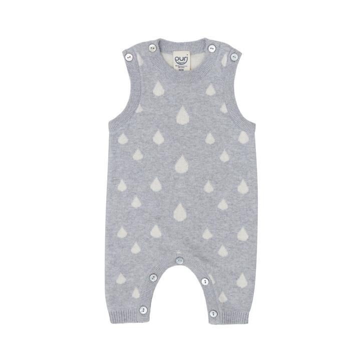Puri Baby Overall ohne Arm Biobaumwolle mit Leinen GOTS