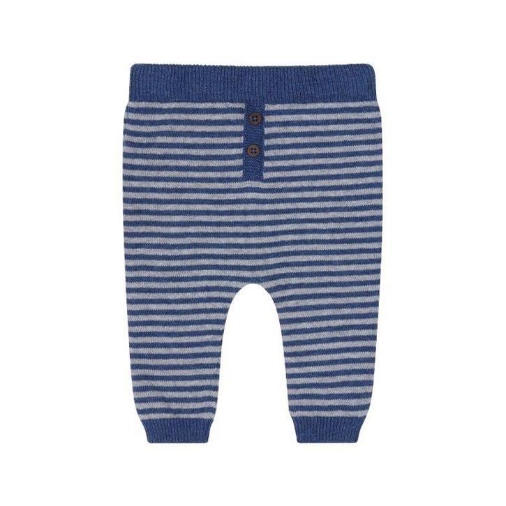 Puri Pant navy/grau Baby Hose mit Leinen