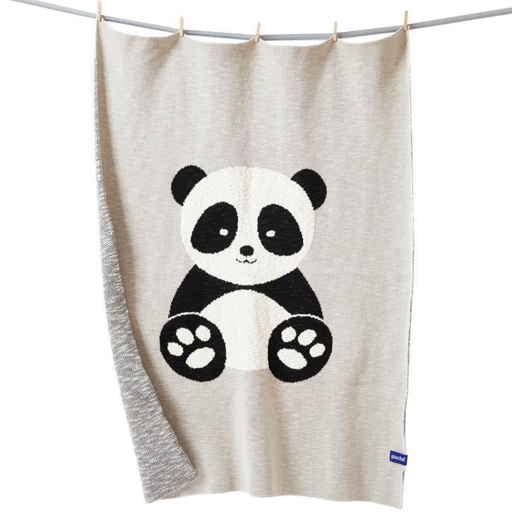 quschel 100x140cm Baby-Panda GOTS
