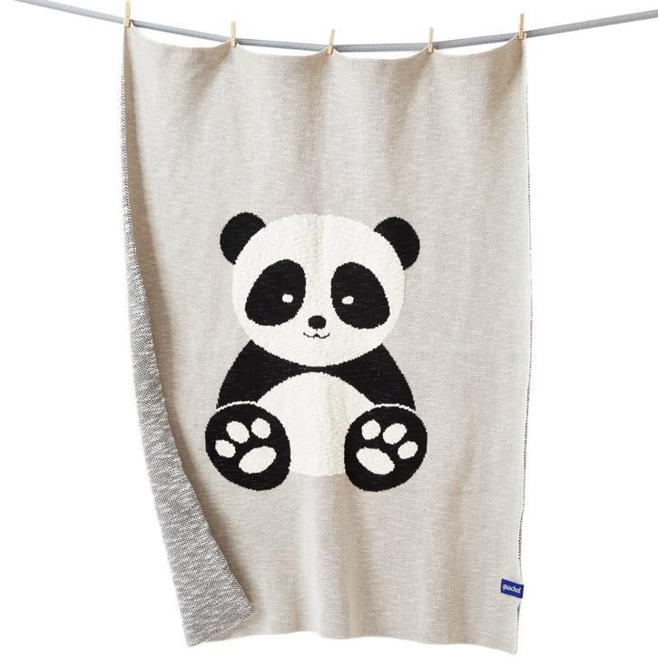 quschel 80x100cm Baby-Panda GOTS