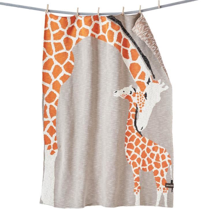 quschel Giraffenliebe GOTS 80x100cm, 135x170cm