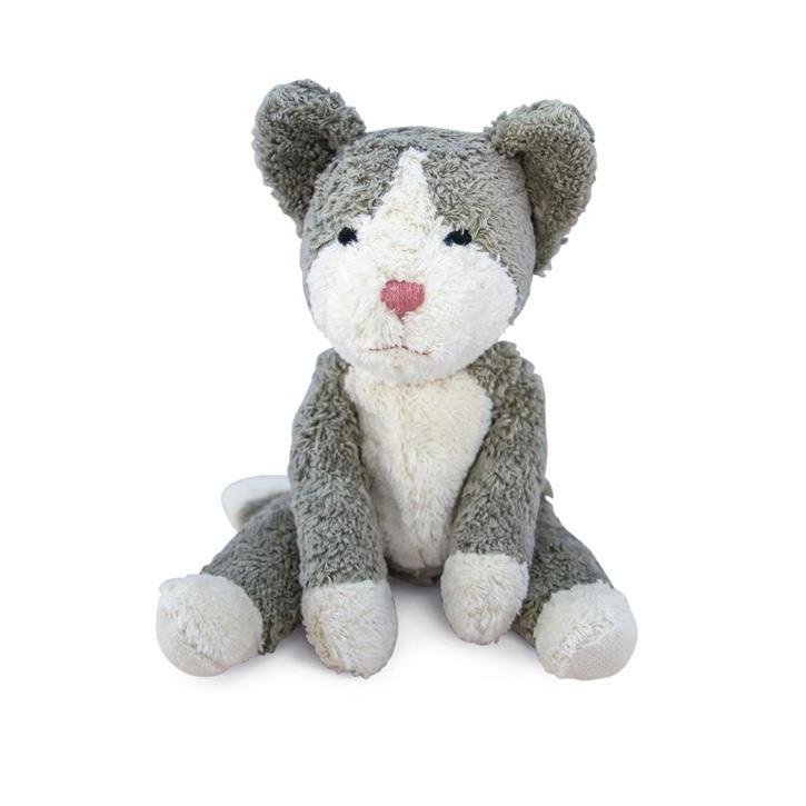 Senger Schlenker Tierpuppe Katze, klein   grau weiß
