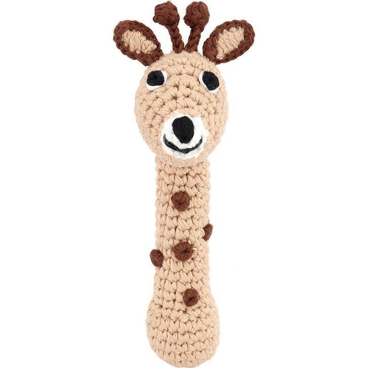 Sindibaba BIO Giraffen-Stabrassel, beige ( ca.13cm )