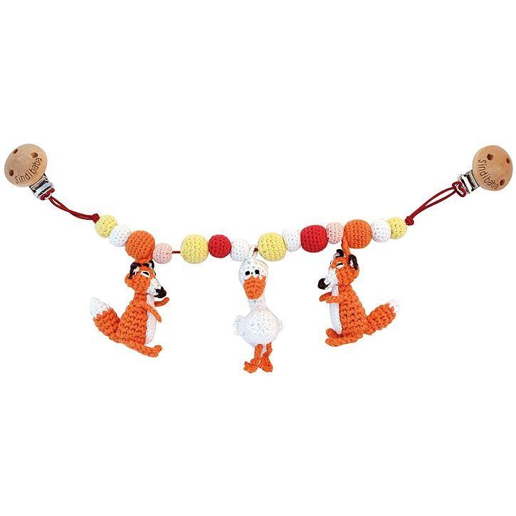 Sindibaba Kinderwagenkette mit Fuchs, orange (ca. 50cm)