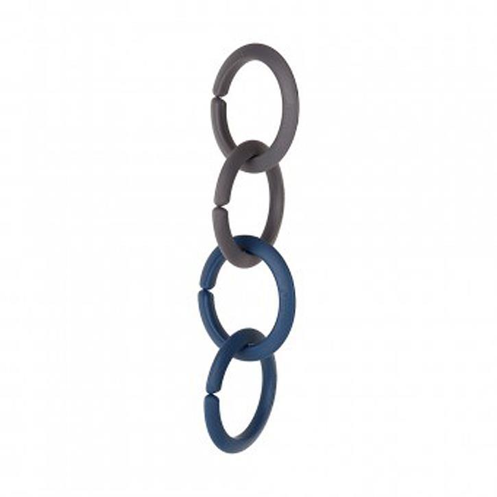 Sindibaba Spielzeug-Befestigungsklammern (Beutelinhalt: 2 blaue Ringe und 2 graue Ringe)