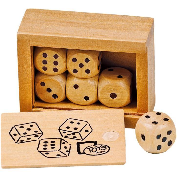 Toys Pure Würfelkasten mit 6 Holzwürfeln HS239 0+ Holz