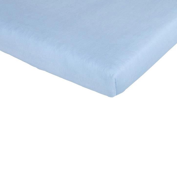 Träumeland Spannbetttuch Tencel hellblau 60-70 x 120-140 cm