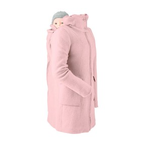 Mamalila Wollwalk Kapuzenmantel für zwei, limitierte Special Edition, winter rose XS