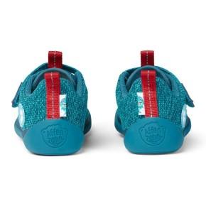 Affenzahn Minimalschuh Knit Hai Klett  Blau