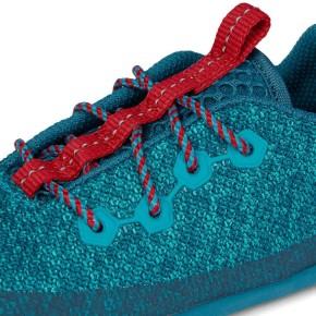 Affenzahn Minimalschuh Knit Hai Schnürer  Blau