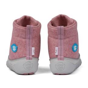 Affenzahn Minimalschuh Midboot Wolle Lace Einhorn 28 Pink Futter: 100% recyceltes Polyester Plüsch