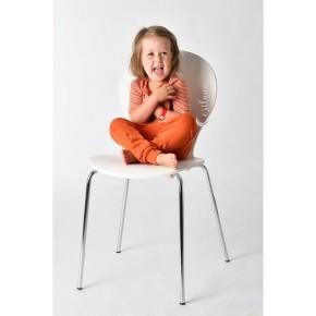 Cosilana Kinder-Unterhose lang 104 orange uni 70% Merinoschurwolle / 30% Seide