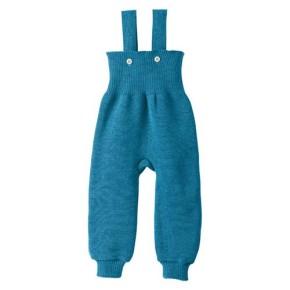 Disana Strick-Trägerhose blau 100% bio-Schurwolle