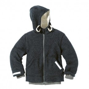 Disana Outdoor-Jacke anthrazit 100% bio-Schurwolle/ Futter 100% bio-Baumwolle