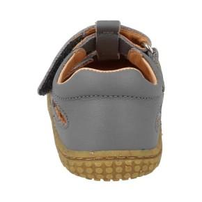 Filii-Barefoot Sandale 30 Bio KAIMAN nappa velcro stone Mittel