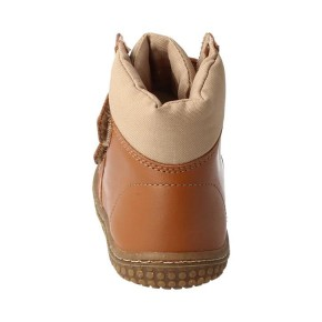 Filii Barfußschuh Himalaya Stiefel Bio Nappa Klett chestnut terra 100% Wollfutter