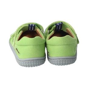 Filii Sandale grün  KAIIMAN textil VEGAN apple Klett Weit