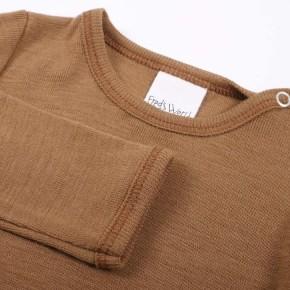 Freds World Wool body Langarmbody aus Merinowolle Almond Wo/100