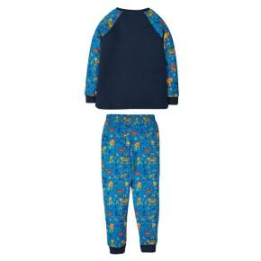 Frugi Jamie Jim Jams Schlafanzug Indigo/Leopard