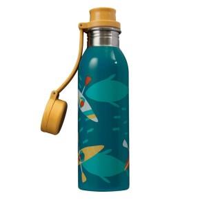 Frugi Large Splish Splash Bottle, Teal/Kayak, O/S