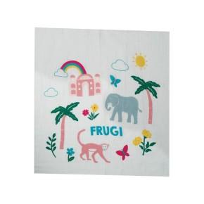 Frugi Lovely 2 Pack Muslin onesize Elephant Multipack