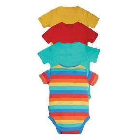 Frugi Over The Rainbow, rot, türkis, gelb, regenbogen Body kurzarm
