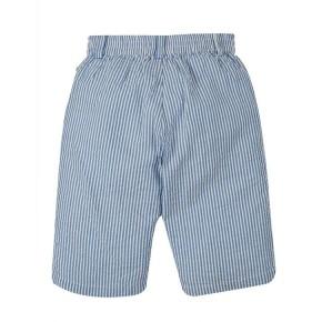 Frugi Seth Seersucker Shorts Colbalt Blue Stripe