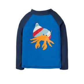 Frugi Sun Safe Rash Vest Sail Blue/Hermit Crab