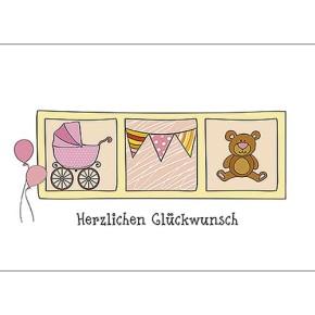 Geschenkgutschein Herzlichen Glückwunsch pink