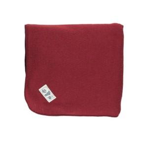 Lilano Decke Schurwolle KbT/Seide Jersey rot/ rot Ringel 80x90cm