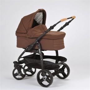 Naturkind Kinderwagen Varius Pro, Design Braunbär Sportwagen (Standard) / Comfort Rad PLUS (+49 €) / silber