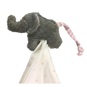 Pat und Patty Elefant grau / rosa Schnuffeltuch Trösterchen 10 x 35 cm