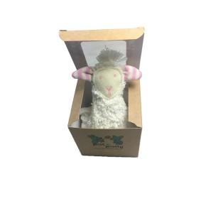 Pat und Patty Schaf natur/rosa Schnuffeltuch Trösterchen 10 x 35 cm